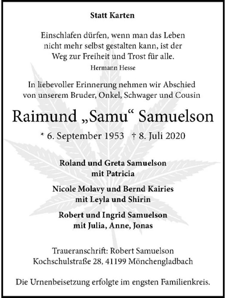 Raimund Samuelson verstorben